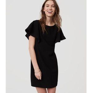 Ann Taylor Loft Black Shift Dress Size 10 NWT